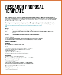 Research Proposal Template Scientific Research Proposal Format ...