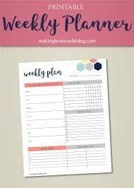 Printable Week Planner Free Printable Weekly Planner You Asked I Listened