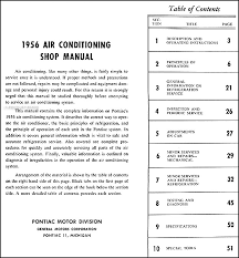 1956 pontiac air conditioning repair shop manual original