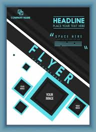 Black Flyer Backgrounds Business Flyer Background Modern Black Blue Geometric Design