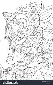 Adult Coloring Page Book An Wolf