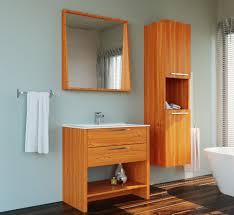 veneer light oak single sink country design free standing bathroom vanity set with mirror