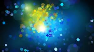 blue yellow bokeh circles desktop wallpaper uploaded by inox alex