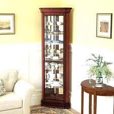 corner china cabinet antique white