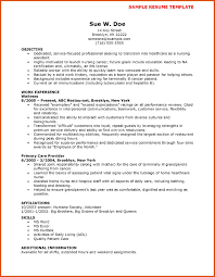 Resume For Cna Examples Cna Resume Sample Moa Format 12