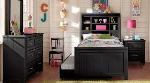 black furniture for bedroom. Cottage Colors Black 5 Pc Full Bookcase Bedroom Furniture For S