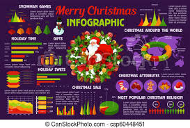Gift Chart Template Christmas Holiday Celebration Infographic Template