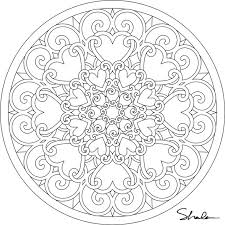 Small Picture Mandala Printable Coloring Pages Ipad Coloring Mandala Printable