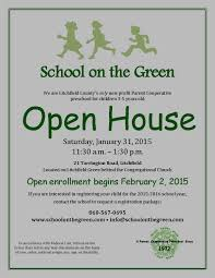 Sotg Open House Flyer 2015a School On The Green