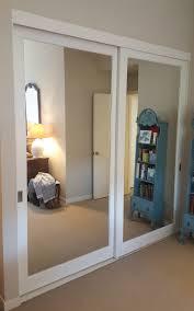 closet mirror sliding doors for bedrooms installing sliding closet doors for design ideas and