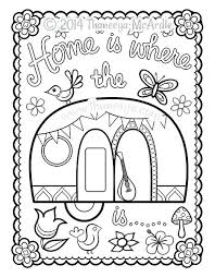 Coloring Pages Camper Coloring Pages Free Happy Camper Coloring