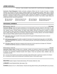 Good Objectives In A Resume Cool Construction Resume Objectives For