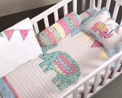 elephant theme 4 pc baby bedding set