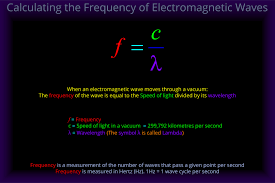 Speed Of Light Frequency Wavelength Calculating The Frequency Of Electromagnetic Waves Light