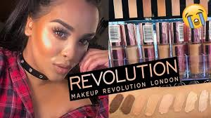 testing new makeup revolution conceal define concealers for dark skin nikkissecretx