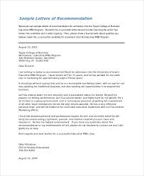 sample letter of recommendation for college student sample college recommendation letter 7 examples in word pdf