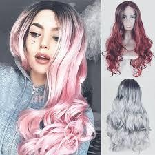 4 Colors <b>Women's Fashion</b> Long <b>Curly</b> Hair Wigs Loose <b>Curls</b> ...