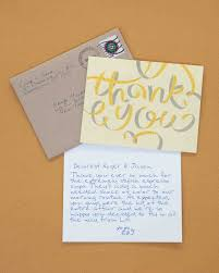 Wedding Thank You Notes Creative Ways To Say Thank You Youre Welcome Martha Stewart