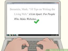 How To Quote A Website 4 Ways To Cite An Online Article Wikihow