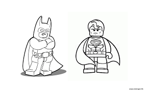 Coloriage Batman Vs Superman Lego 2016 Dessin