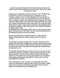 Essay Childhood Memories Childhood And Memories Poetry Essay Term Paper Example 2628 Words