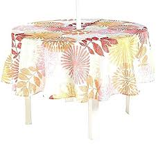 vinyl umbrella tablecloth with zipper weights outdoor tablecloths patios table linens runners covers round