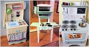30 Unique Diy Play Kitchen Ideas Your Kids Will Love Diy Crafts