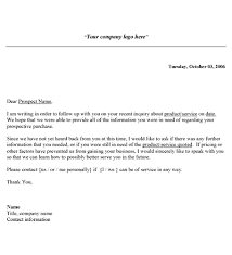 sales follow up sales follow up letter template