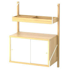 folding display shelves table top wall mounted storage combination bamboo white width depth lightweight