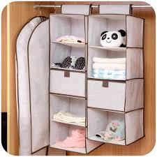 Simple linen closet storage Bag multilayered clothes closet with