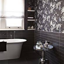 Image Bathroom Ideas Albany Emily Charcoal Wallpaper Wallpaper Direct Bathroom Wallpapers Wallpaper Direct