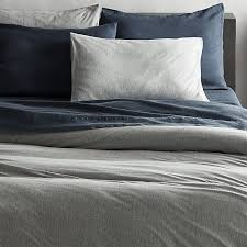 recycled jersey grey king duvet cover