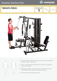 Multi Station Home Gym Exercise Chart Home Gym Exercise Guide