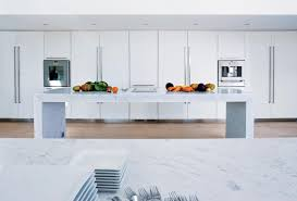 Carrera Countertops immaculate white lacquer kitchen with carrera marble countertops 2135 by xevi.us