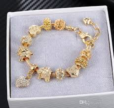 2019 charming bracelet charms gold plated bangle bracelets girls diy friendship bracelets bangle charms heart chain jewelry from lisad 7 63 dhgate com