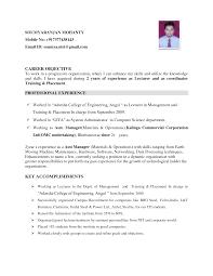 Engineering Resume Objective Statement Filename Infoe Link
