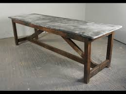 zinc dining room table. Zinc Top Dining Table Is Cool Room And Chairs Small