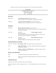 One Page Resume Resume Example