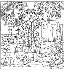 Joseph And Coat Of Many Colors Coloring Page Color Bros