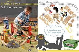comparison of wooden train sets for toddlers that encourage child s development