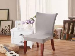 elegant fabric solid color stretch chair seat cover puter dining from dining chair seat protectors