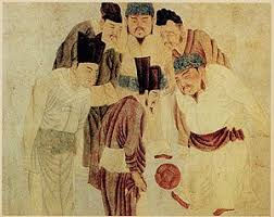 football a painting depicting emperor taizu of song playing cuju i e chinese football his prime minister zhao pu egravepara153aelig153reg and other ministers