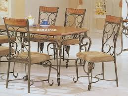 wrought iron dining room furniture furniture dining room table and chairs with bench