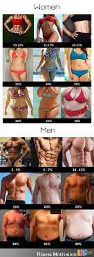 Fat Percentage Chart Visual Truth Of Body Fat Percentages Chart Luvthat