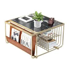 13 stains to choose from! 30x Pack 50cm High Gilded Metal Side Table With Black Or White Marble Top Cube Coffee Table With Magazine Storage Coffee Tables Aliexpress