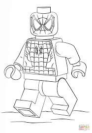 Lego Spiderman Super Coloring Coloring Spiderman Coloring In