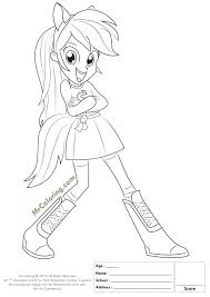 Fresh Fortable My Little Pony Equestria Girls Coloring Pages Free