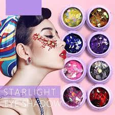 Nové 2018 Hybridní Sequins Glitter Kulaté Barevné Glitter Hrnce Nehty Tělové Tělo Stín Glitter Beauty Makeup At Vova