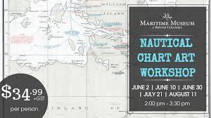 Nautical Chart Art Workshop The Maritime Museum Of British