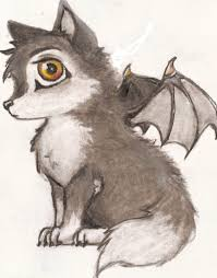 baby wolf drawing with wings. Cute Anime Fantasy Wolves With Wings Vampire Wolf Cub By On Baby Drawing Pinterest